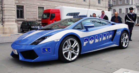 policejní Lamborghini Gallardo